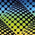 Fabric Pop Dots Rainbow 51528D-2