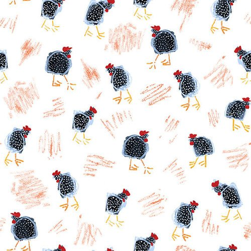 Fabric Tossed Chickens 9877-01