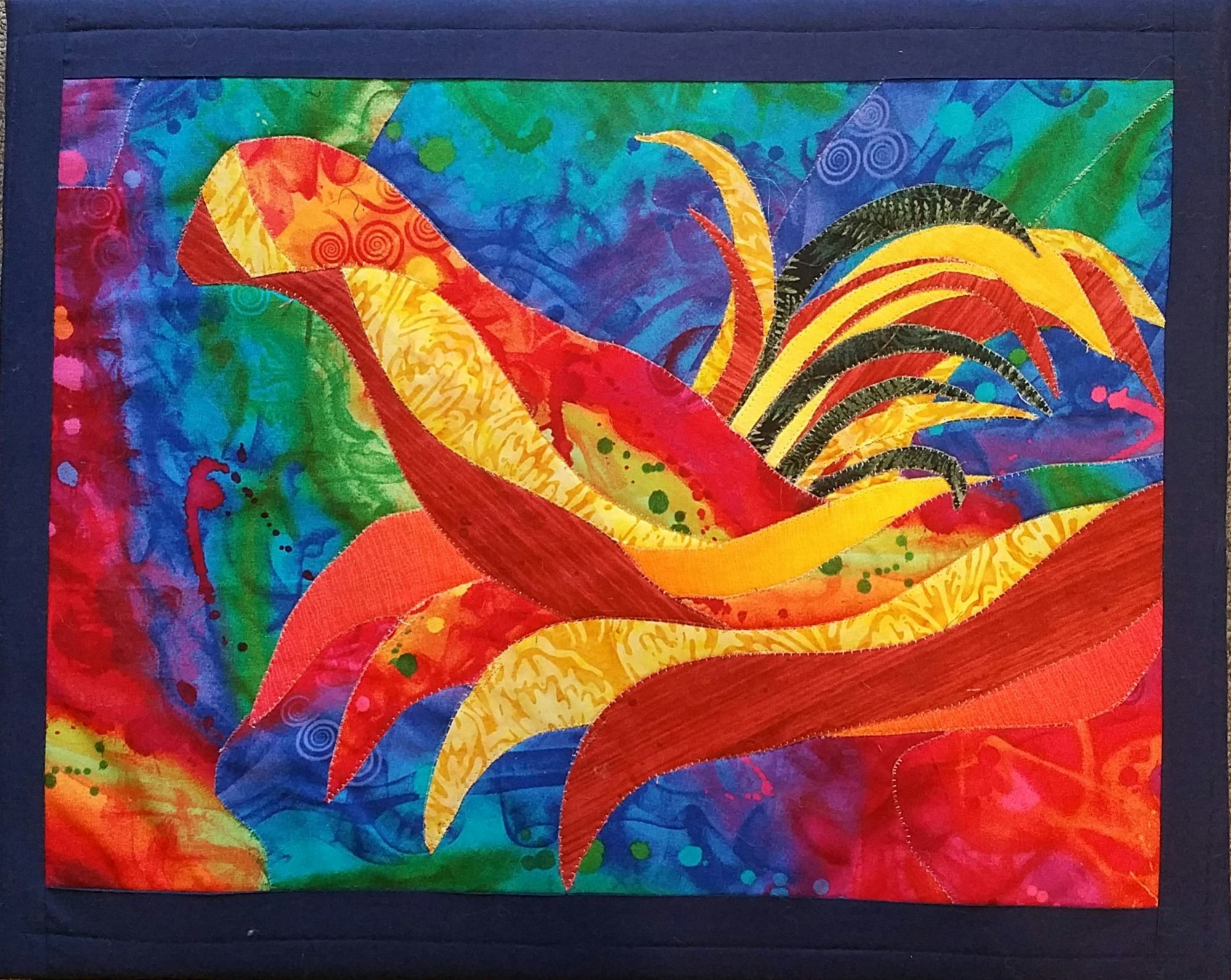 Wild Bird Textile Painting