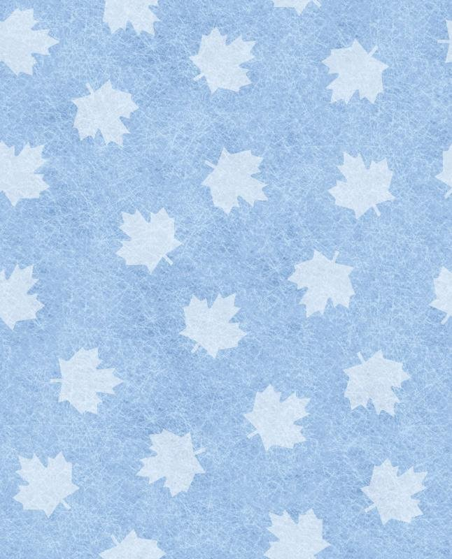 1yd Canada's Game Flannel - maple leaf on ice by Robert Kaufman