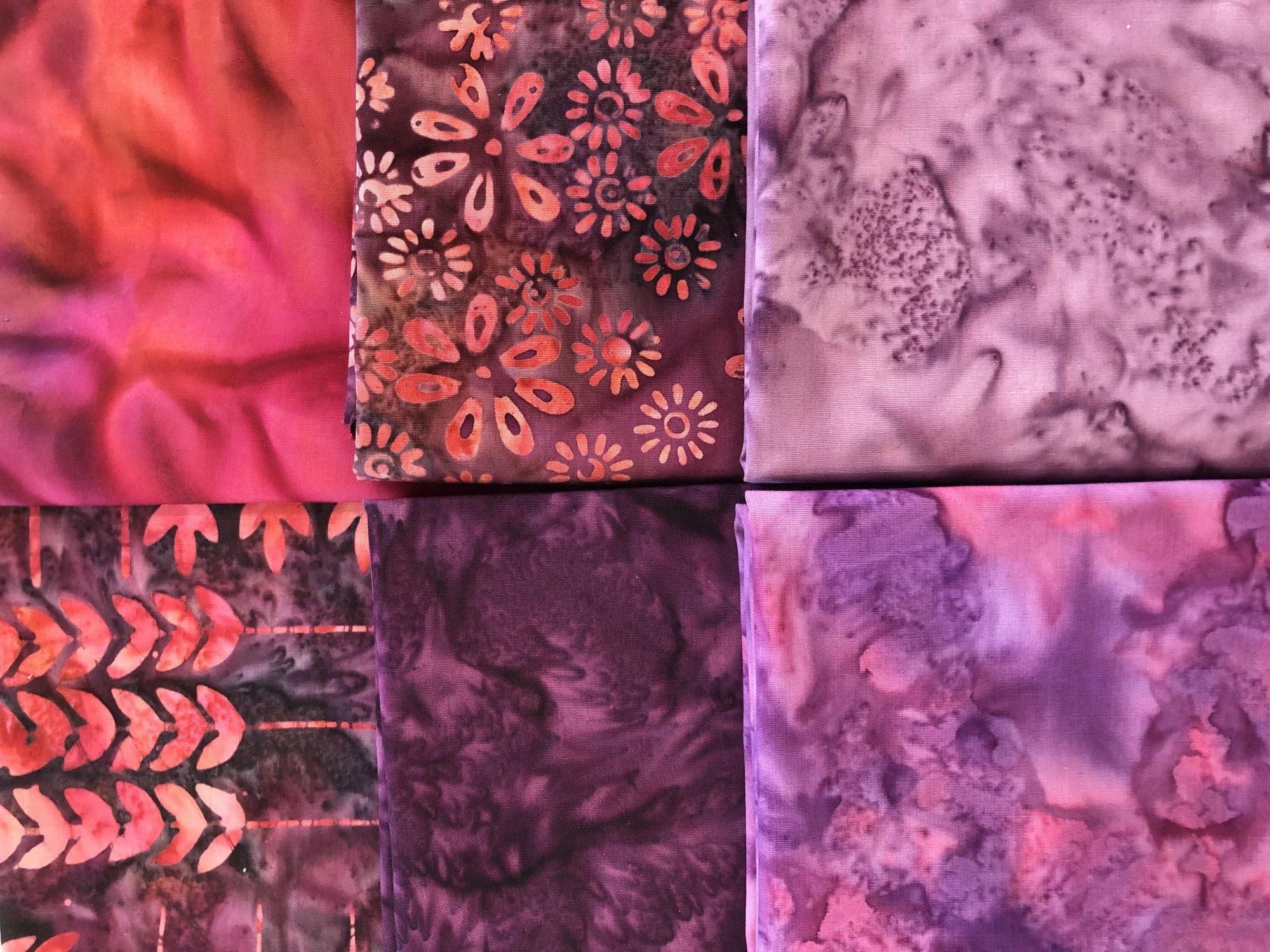 Purple Batik - Fat 1/4 Bundle - 6 pc