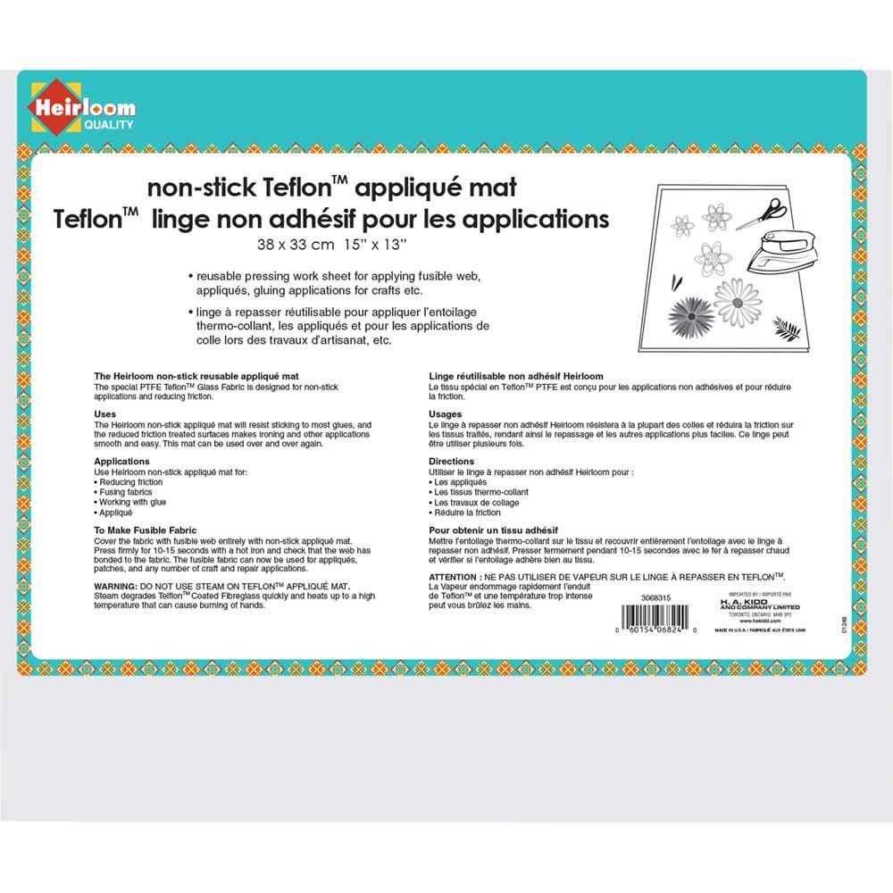 Non-Stick Teflon Applique Mat 15 x 13 (38 x 33 cm)
