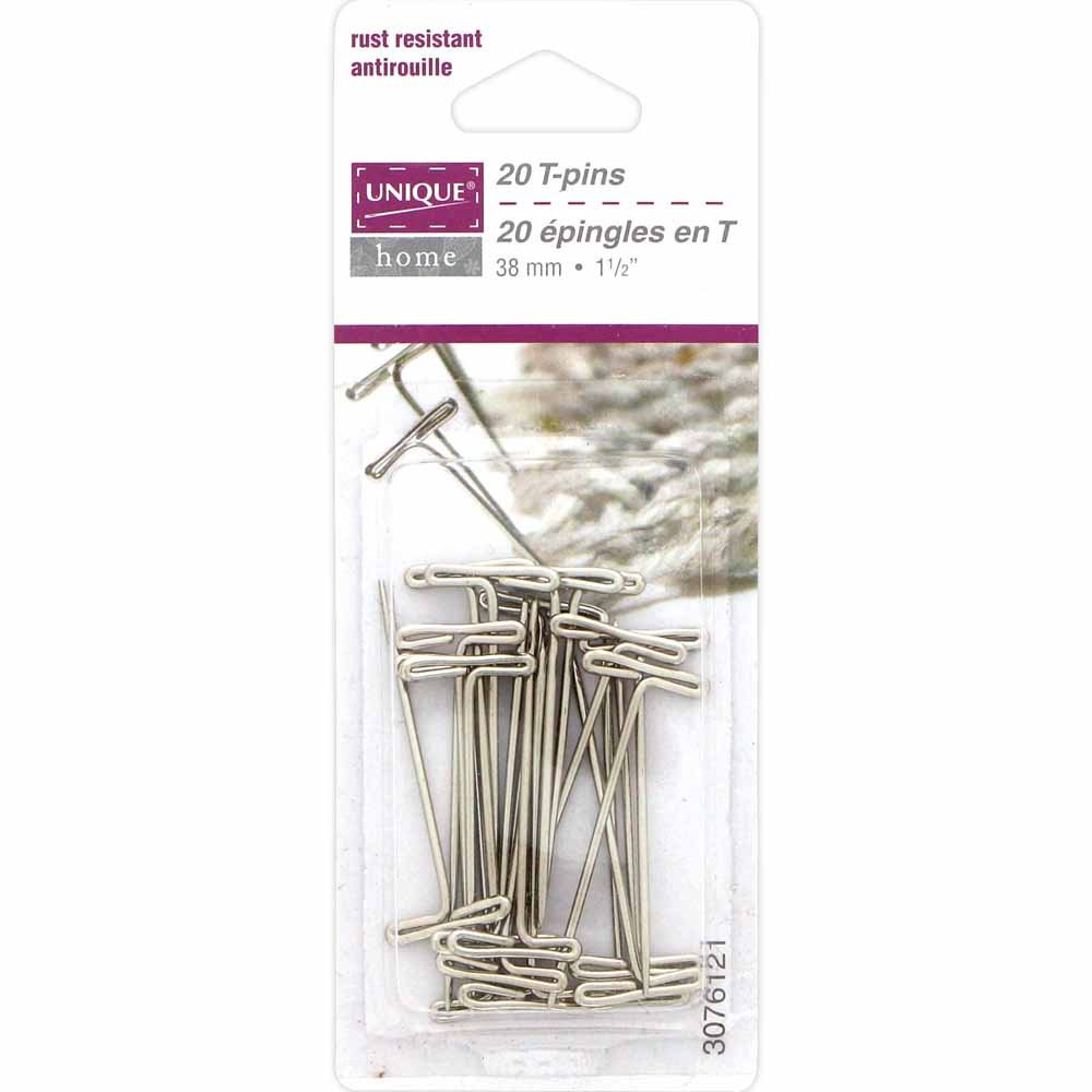 UNIQUE HOME T-Pins - 20pcs - 38mm (1 1⁄2)