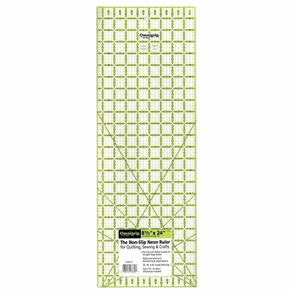 OMNIGRIP Ruler - 8 1/2 x 24 (21.6 x 61cm)