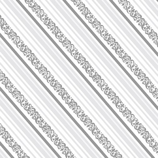 1/2m I Thee Wed - Gift Box Stripe Silver by Kanvas Studio