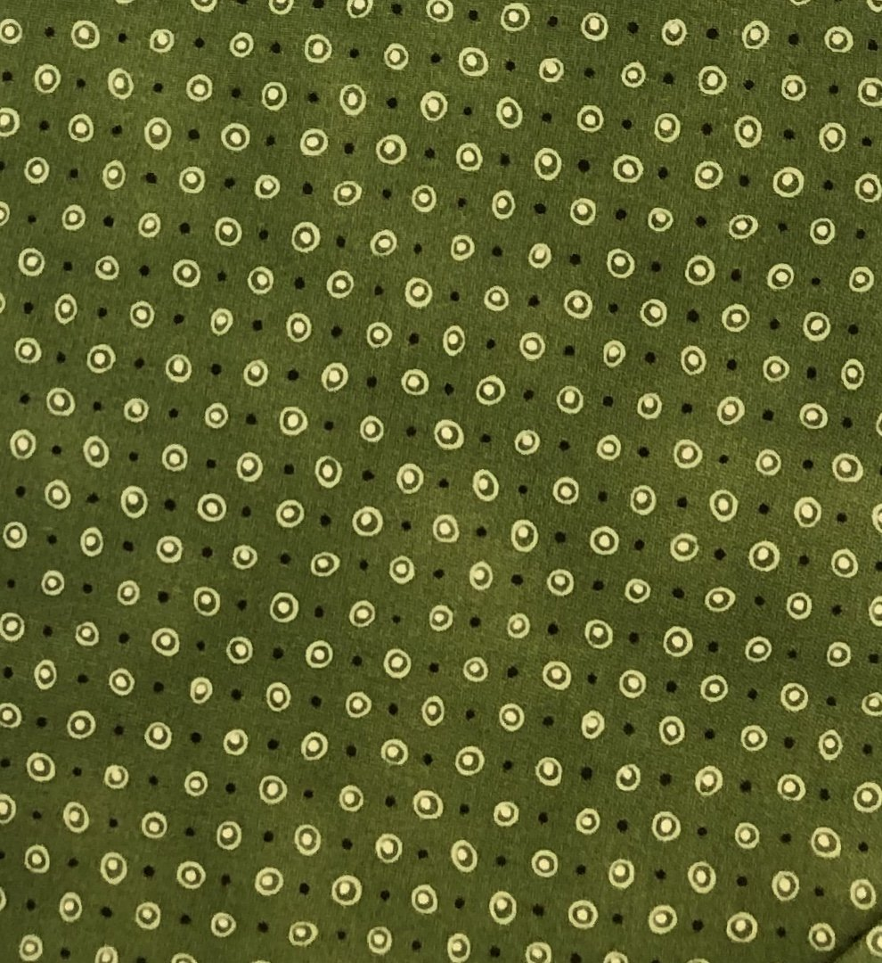 Quilters Basics Dusty- Olive w/ Lt. & Dark Dots
