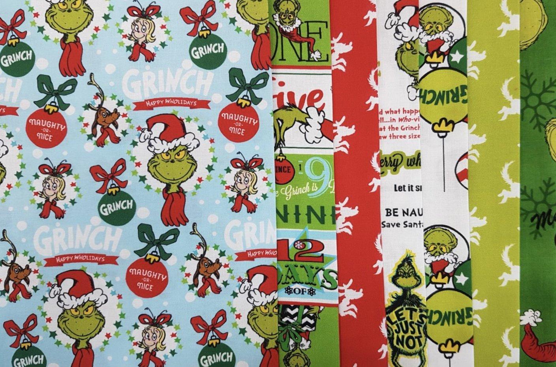 A Grinch Christmas - 10.5 x WOF Roll - 7 pcs