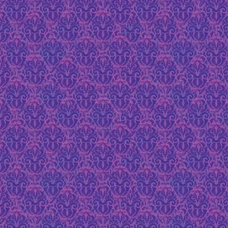 Purple Nouveau Damask Blossom & Bloom by John Christopher Collection