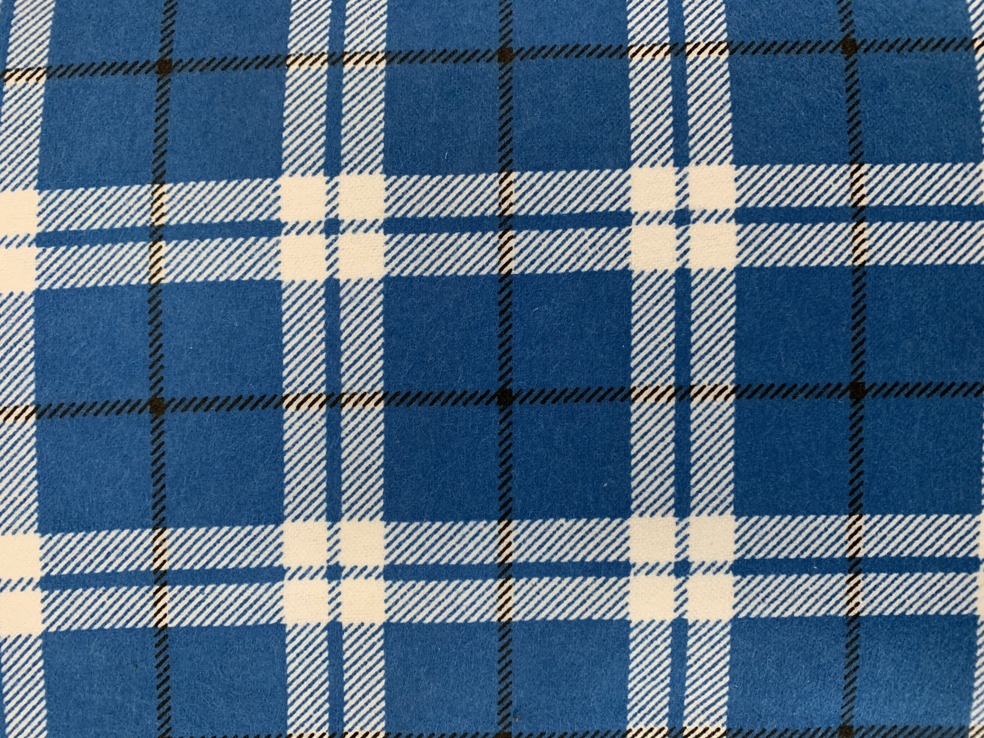 Blue/White Tartan Flannelette by Siltex