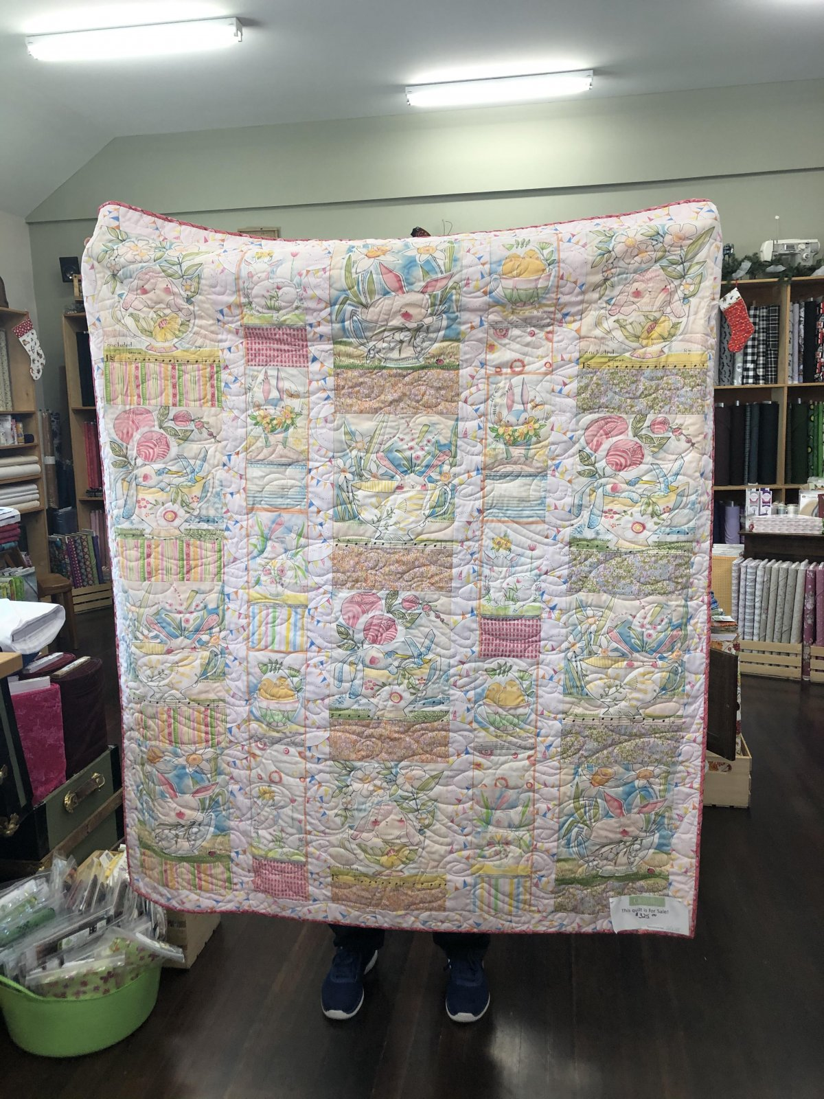 Quilt - Adorable Pink Bunny's