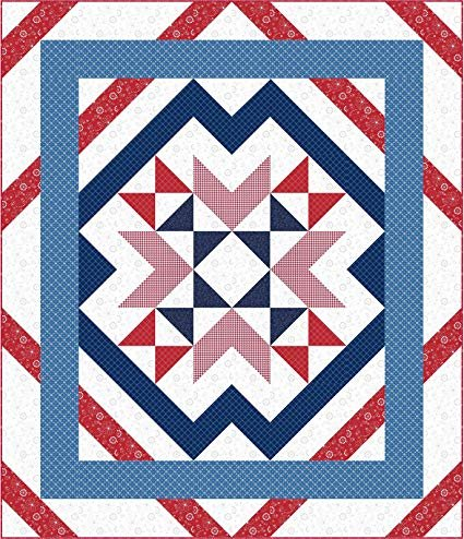 Wyomimg-Red, White & Blue Quilt Kit featuring Kimberbell Basics by Maywood Studio