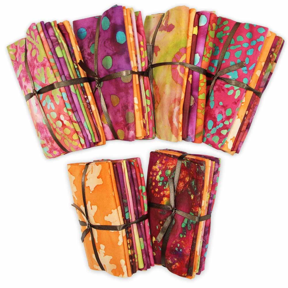 FABRIC CREATIONS Fabric Bundle (5pcs) - Batik Collection - 45 x 53cm (18 x 21)