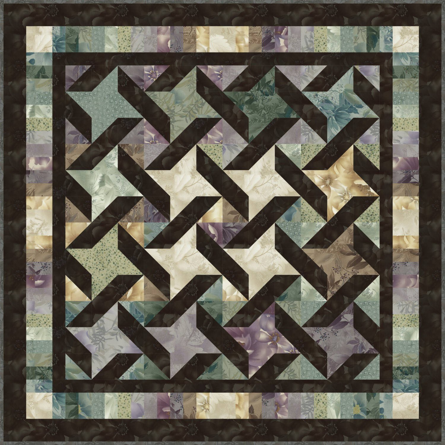 Agate quilt kit by Grace Wilson 51 x 651