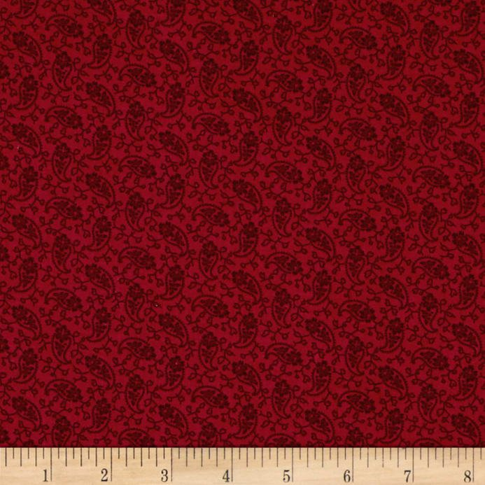 Over The Rainbow-Red Paisley by Kathy Hall for Andover Fabrics