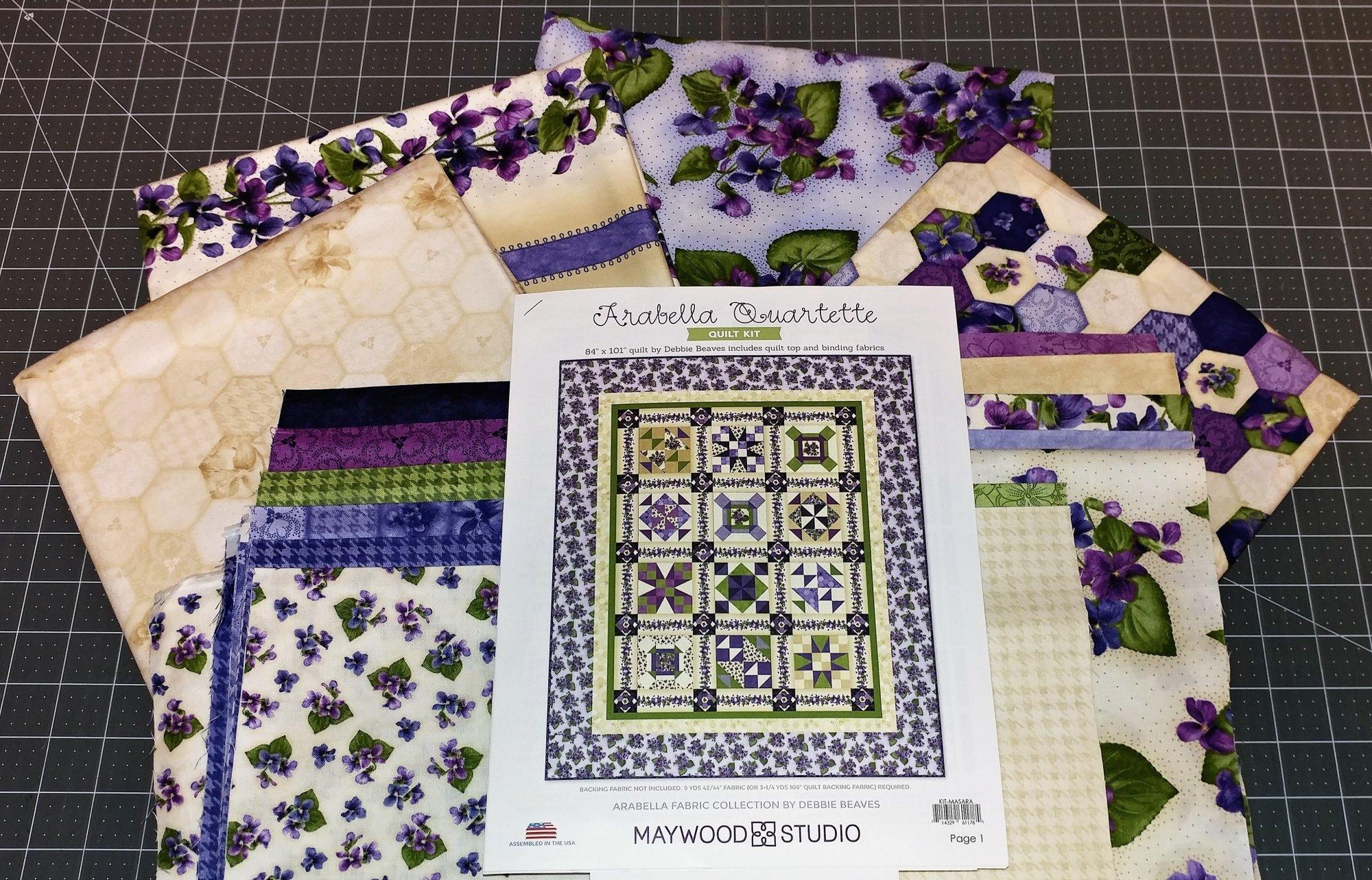 Arabella Quartette Fabric Kit, Fabric and Pattern by Debbie Beaves for Maywood Studio : Kit-Masara
