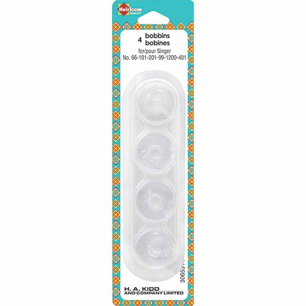 Heirloom Plastic Bobbins - For Most Singer Machines 4pc