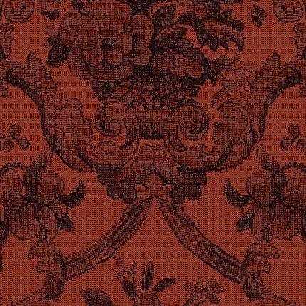 1yd Casablanca-Rust Distinctive Damask- by Jinny Beyers for RJR Fabrics
