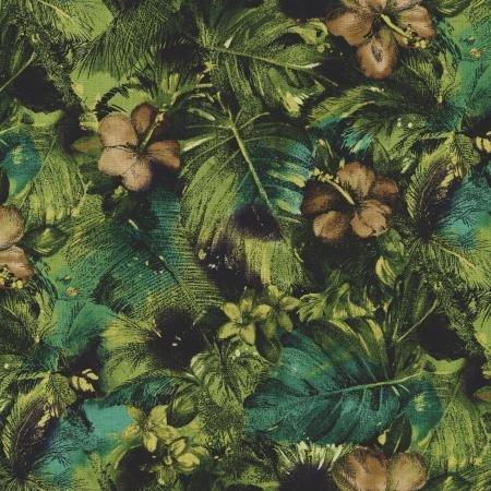 1yd Casablanca-Floral Olive-by Jinny Beyers for RJR Fabrics