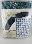 Drunkards Path Maple Kits Ocean Breeze Batik Colorway 64x80