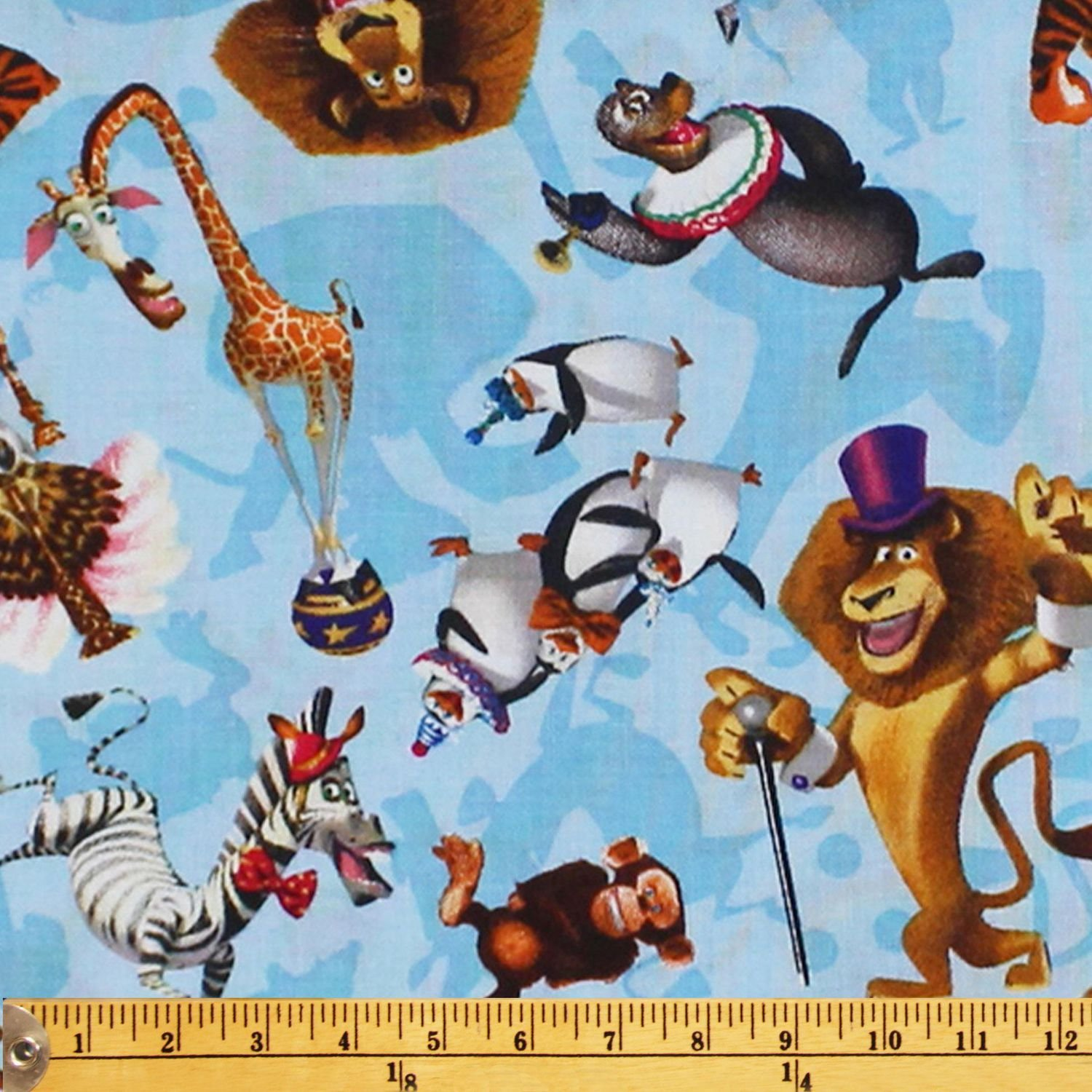1yd Disney's Madagascar Flannel