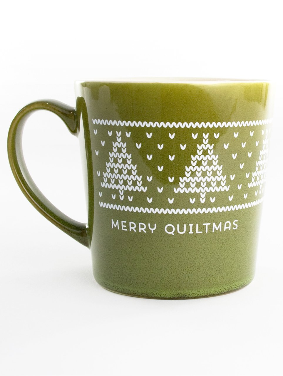 Quilt Happy Merry Quiltmas Mug - Green 16oz