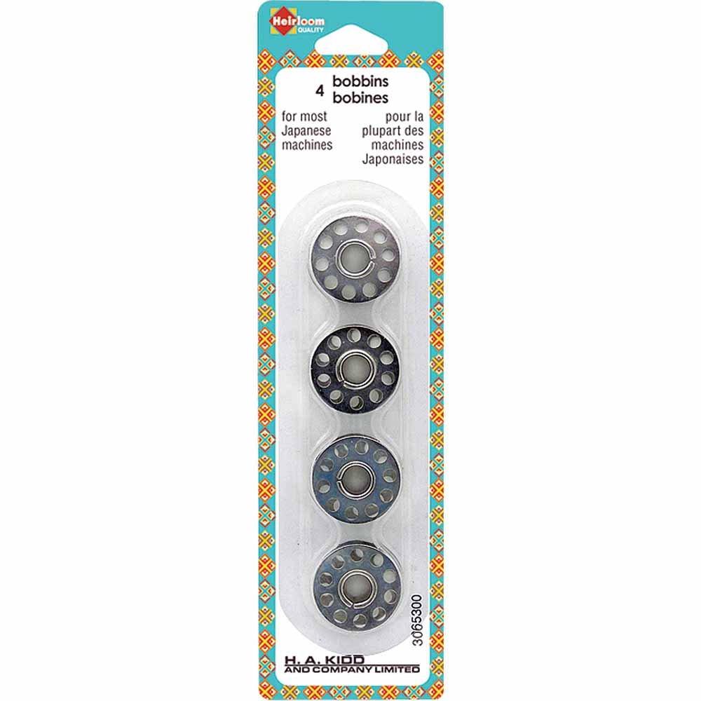 Heirloom 10 Hole Metal Bobbins - 4pcs
