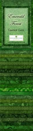 Essential Gems Emerald Forest 24pcs 2-1/2in x 44in Strips