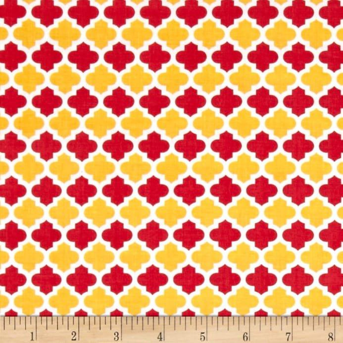 Anna's Garden - Rose Quatrefoil  by Patrick Lose Fabrics