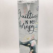 Quilting is My Therapy (Grey) - 20 oz Tumblers