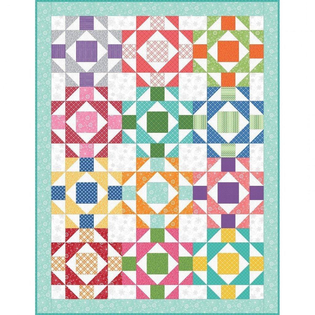 Simply Fun Quilt Kit 51 x 66 by Rachel Shelburne