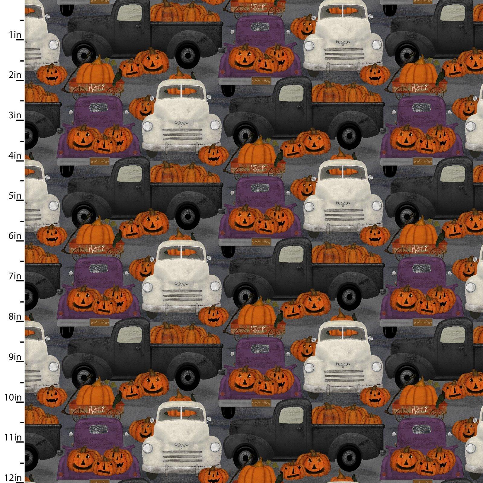 Spooky Night - Black & White Trucks