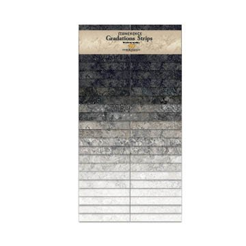 Stonehenge Gradations Precuts - Graphite 40 x 2 1/2 strips