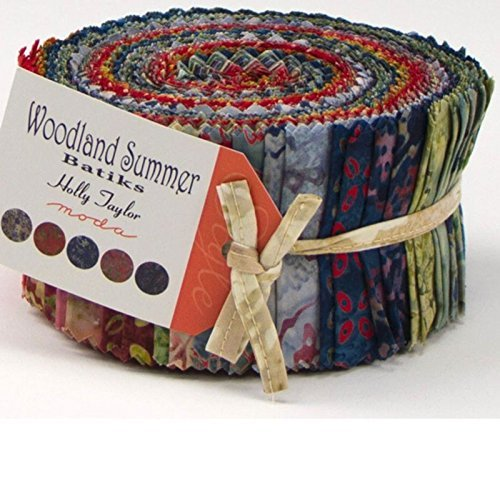 2 1/2  Strips Woodland Summer Batiks 40 pc by Holly Taylor