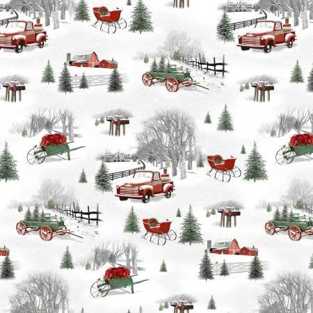 Holiday Homestead Small Grey Christmas Scene