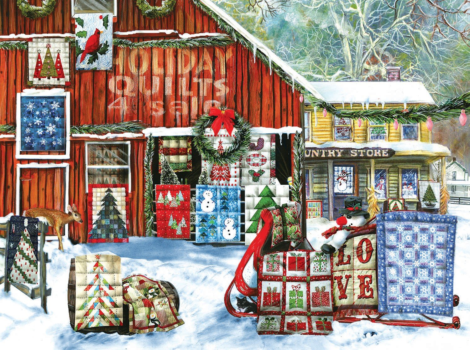 Holiday Quilts Puzzle 1000pc