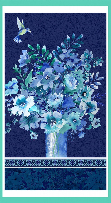 Midnight Sapphire 24 Panel Vase Bouquet