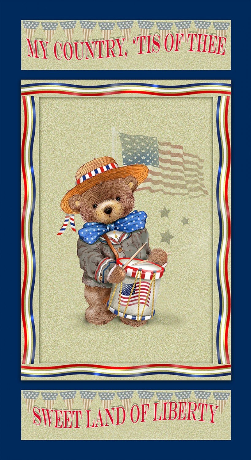 Teddy's America Teddy Bear Panel