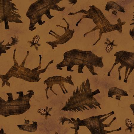 Pinewood flannel animal toss brown
