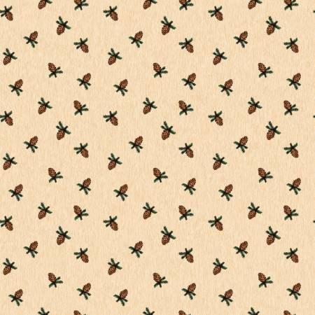 Pinewood flannel pinecone cream