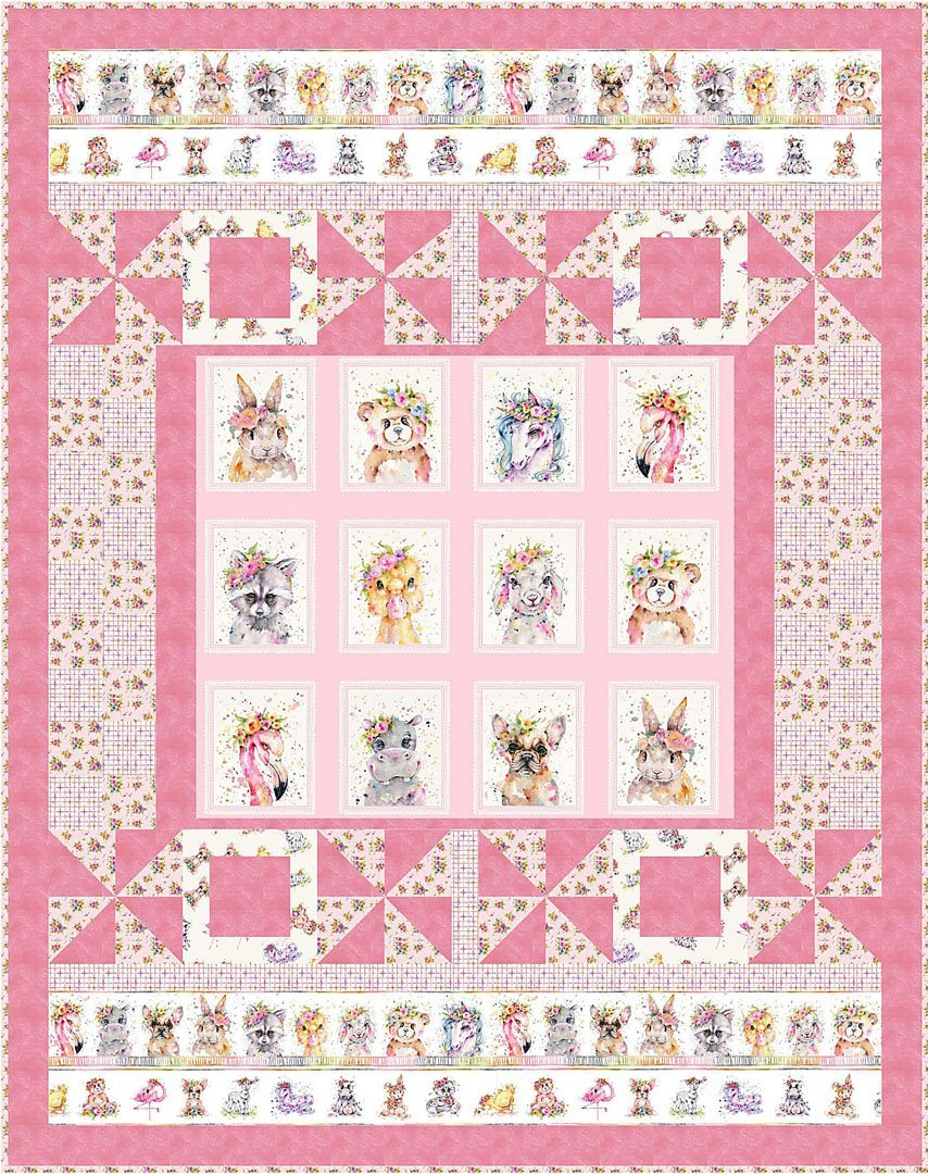 Little Darlings Pink Quilt Kit