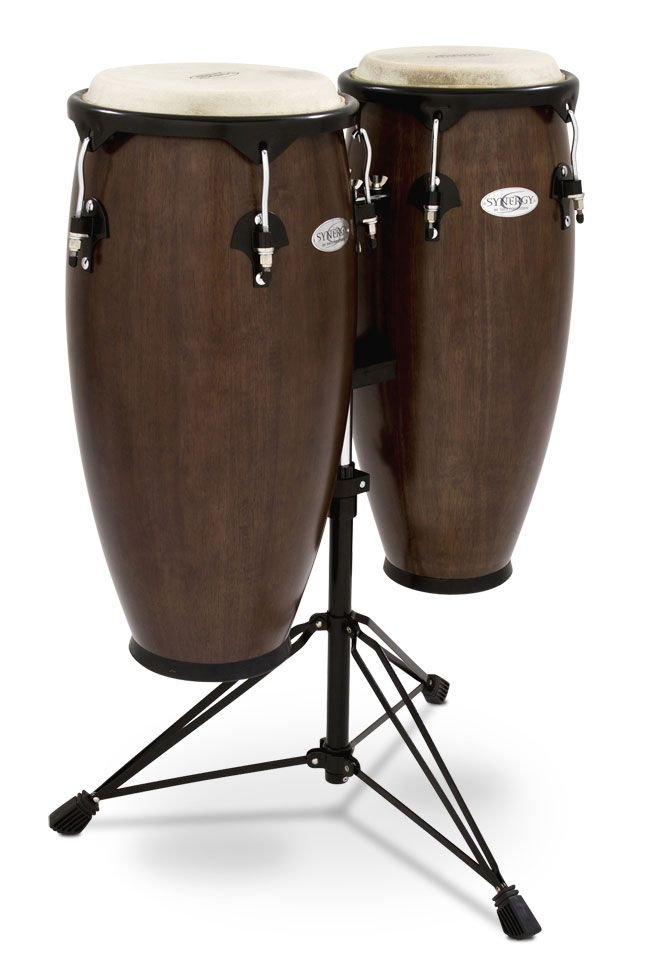 TOCA SYNRGY 2300TOB Tobaco Brown Congas w/ Stand