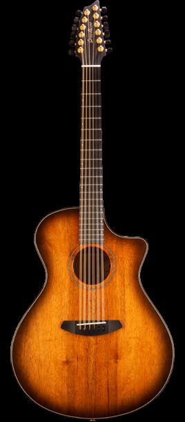 Breedlove ORCO04XCEMYMY Oregon Concerto Bourbon 12-String CE Myrtlewood-Myrtlewood Acoustic-Electric Guitar