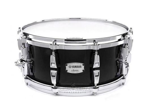 Yamaha AMS-1460SOB Solid Black -14 x 6 Absolute Hybrid Maple snare drum with 10 lugs aluminum die-cast hoops