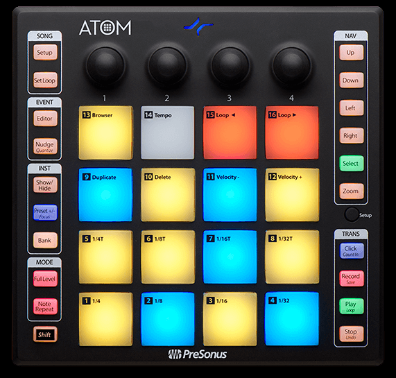 Presonus ATOM:  16-pad USB MIDI Controller Studio One Artist