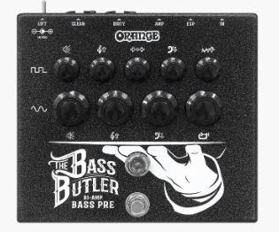 Orange BASS BUTLER Bi-amp bass preamp pedal bass channel guitar channel compression XLR outputs expression pedal jack