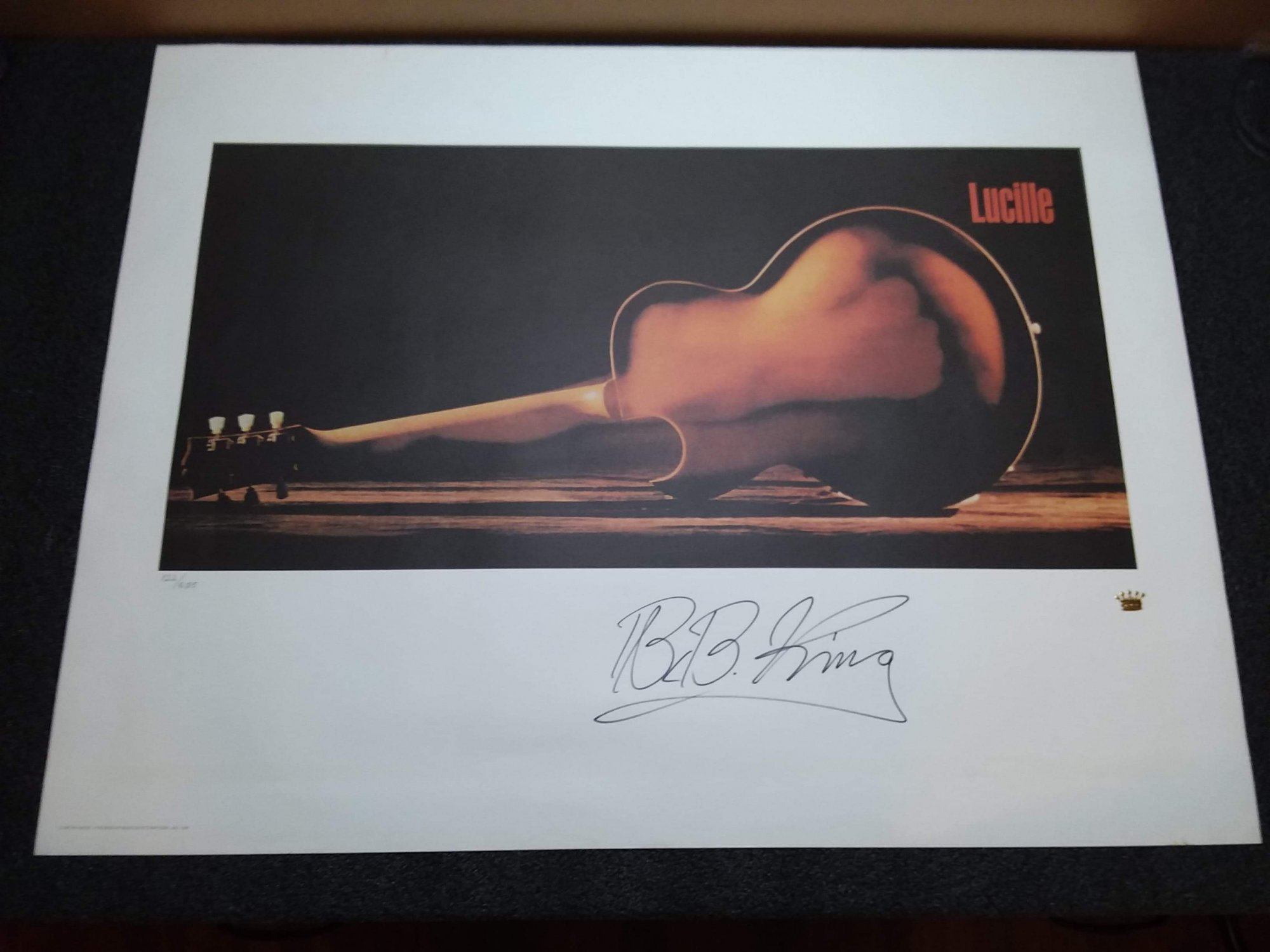 Collectible 1996 The B.B. King Collection LUCILLE Limited Edition Lithographic Print #122 of 685