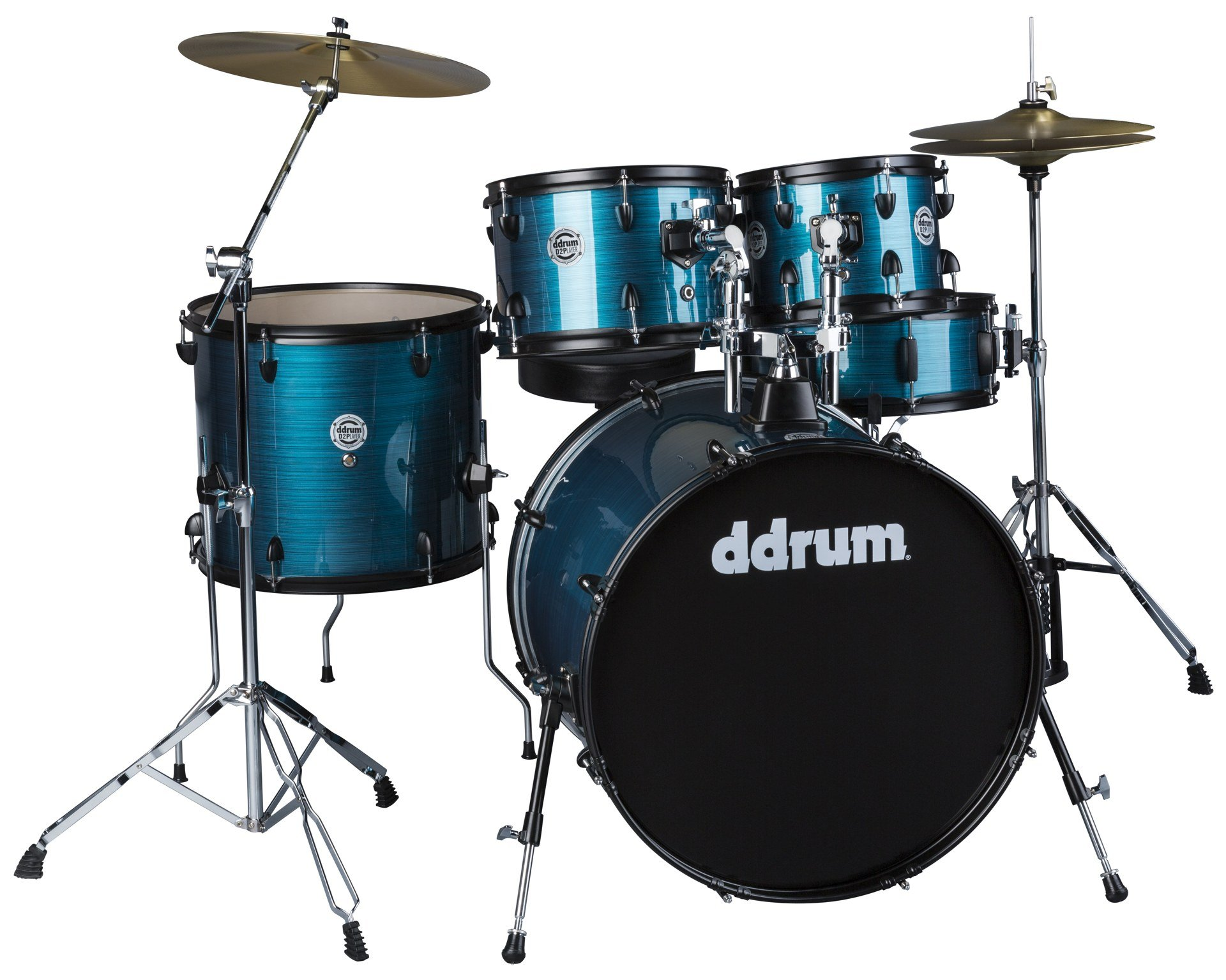 DDrum D2P BPS - 5pc Blue Pinstripe Acoustic Drum Kit