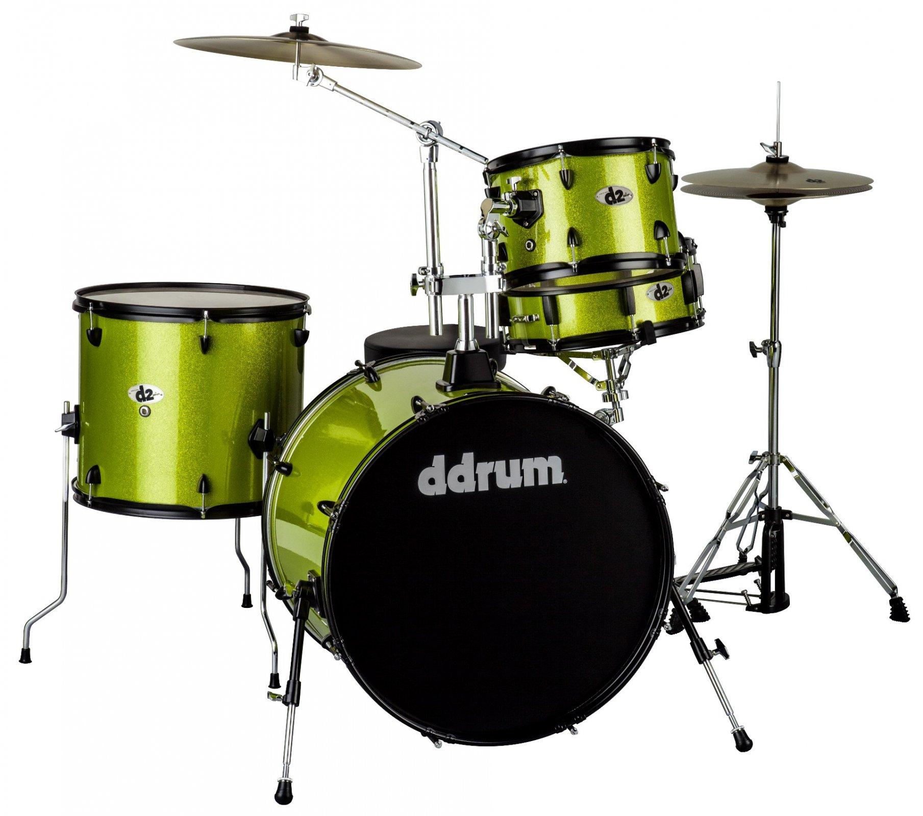 DDrum D2R LIME SPKL - 4pc- Lime Sparkle - Complete Kit