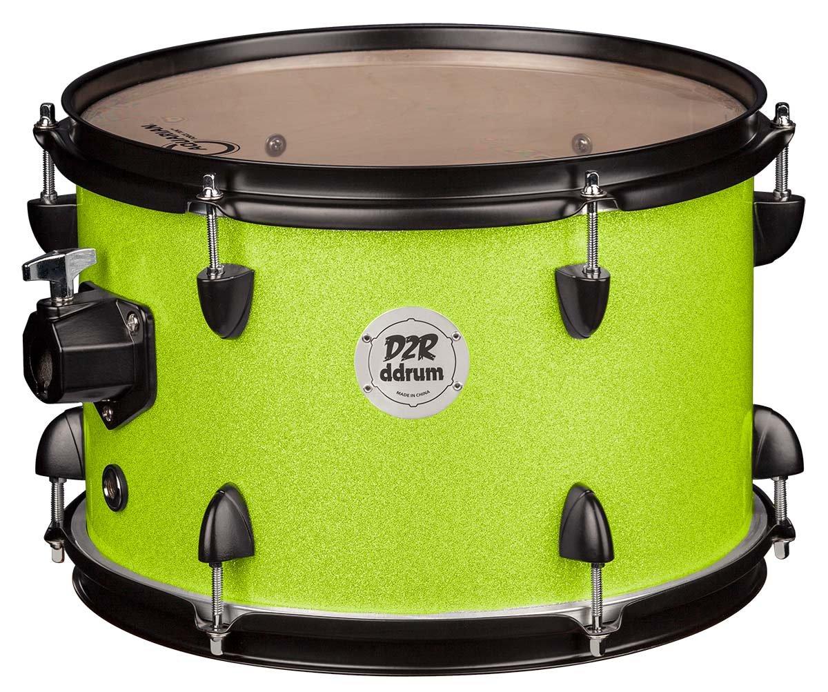 DDrum D2R TT 7X10 LIME SPKL - 7x10 Lime Sparkle Tom