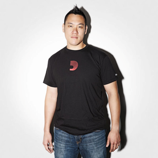D'Addario D-Mark T-Shirt, Black, Large